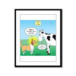 Bessie v Lassie Framed Panel Print