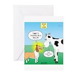 Bessie v Lassie Greeting Cards (Pk of 10)