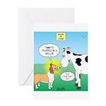 Bessie v Lassie Greeting Card
