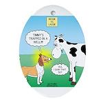 Bessie v Lassie Ornament (Oval)