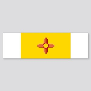 New Mexico Flag Yellow Bumper Sticker