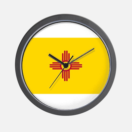 New Mexico Flag Yellow Wall Clock