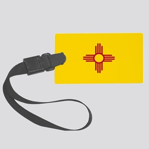 New Mexico Flag Yellow Large Luggage Tag