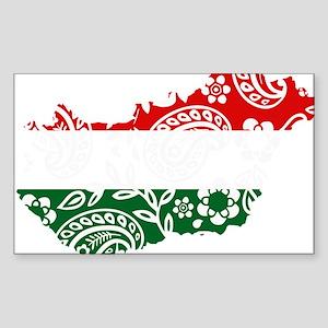 Paisley Hungary Sticker (Rectangle)
