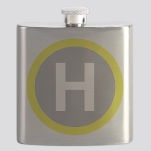 Helipad Sign Flask