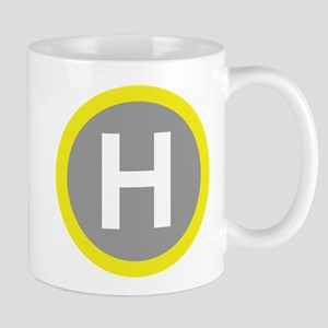 Helipad Sign Mugs