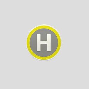 Helipad Sign Mini Button