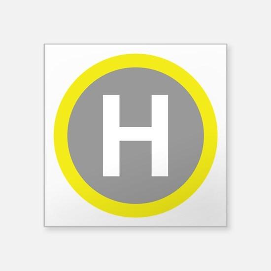 Helipad Sign Sticker