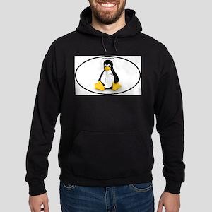 Tux Linux Oval Hoodie (dark)