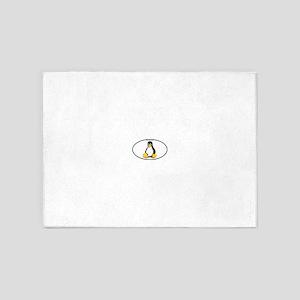 Tux Linux Oval 5'x7'Area Rug