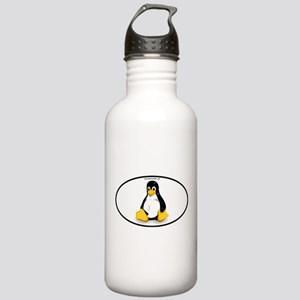 Tux Linux Oval Stainless Water Bottle 1.0L