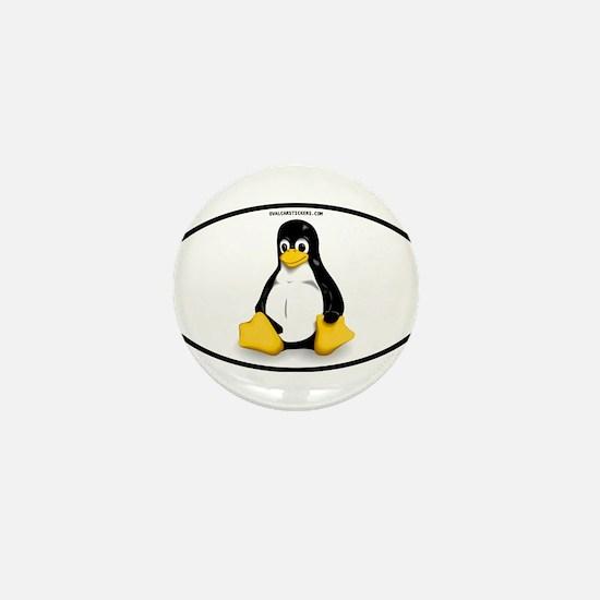 Tux Linux Oval Mini Button