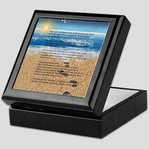Footprints in the Sand Keepsake Box