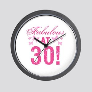 Fabulous 30th Birthday Wall Clock