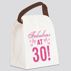 Fabulous 30th Birthday Canvas Lunch Bag