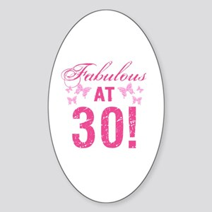 Fabulous 30th Birthday Sticker (Oval)