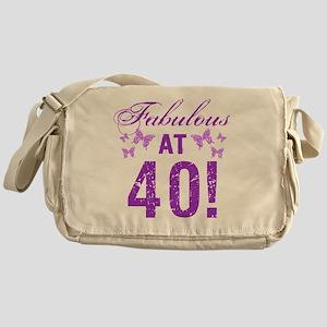 Fabulous 40th Birthday Messenger Bag