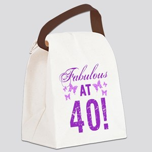 Fabulous 40th Birthday Canvas Lunch Bag