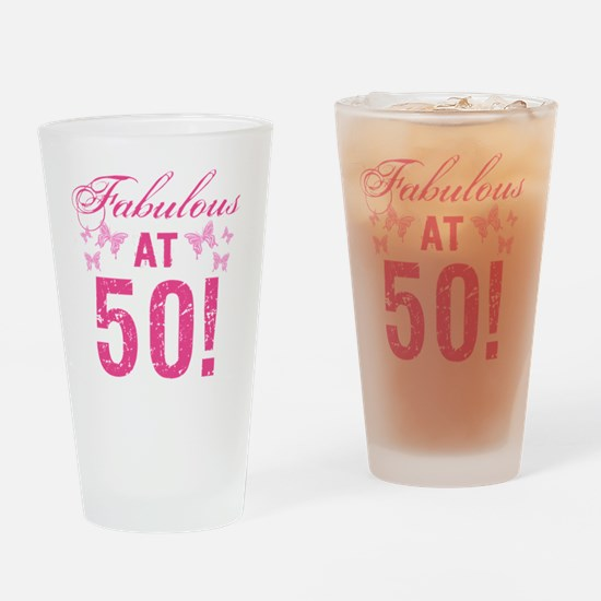 Fabulous 50th Birthday Drinking Glass