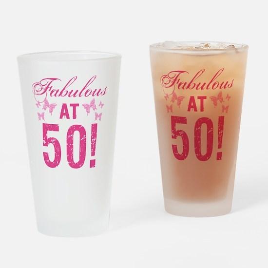 Fabulous 50th Birthday Drinking Glass