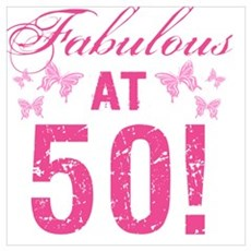 Fabulous 50th Birthday Canvas Art