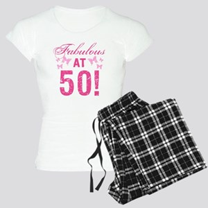 Fabulous 50th Birthday Women's Light Pajamas