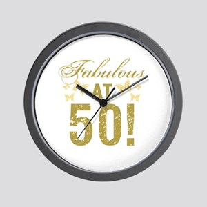Fabulous 50th Birthday Wall Clock