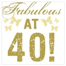 Fabulous 40th Birthday Canvas Art