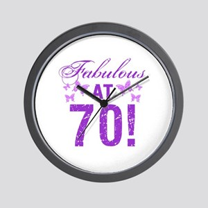 Fabulous 70th Birthday Wall Clock