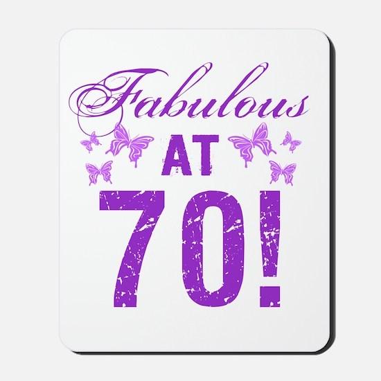 Fabulous 70th Birthday Mousepad