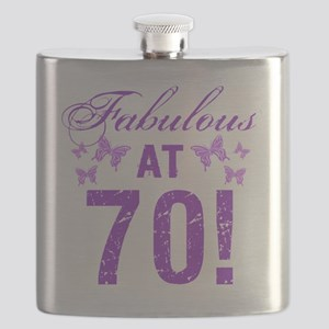 Fabulous 70th Birthday Flask