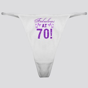 Fabulous 70th Birthday Classic Thong