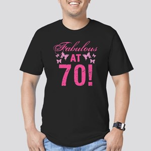 Fabulous 70th Birthday Men's Fitted T-Shirt (dark)