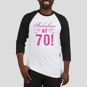 Fabulous 70th Birthday Baseball Jersey