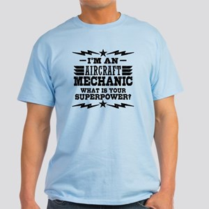 Aircraft Mechanic Superpower Light T-Shirt