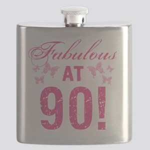 Fabulous 90th Birthday Flask