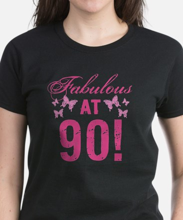 Fabulous 90th Birthday Women's Dark T-Shirt