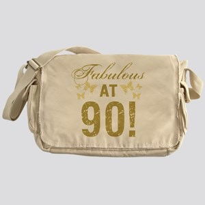 Fabulous 90th Birthday Messenger Bag