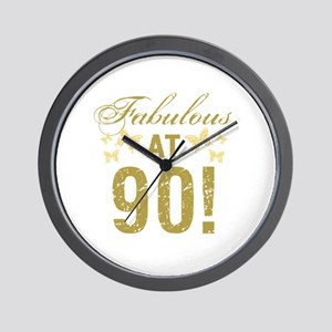 Fabulous 90th Birthday Wall Clock