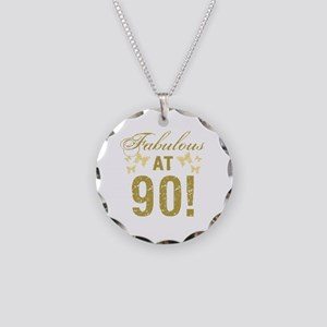 Fabulous 90th Birthday Necklace Circle Charm