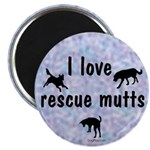 I Love Rescue Mutts (2) Magnet