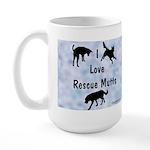 I Love Rescue Mutts (2) Large Mug
