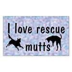 I Love Rescue Mutts (2) Rectangle Sticker