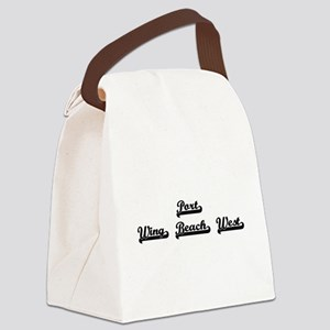 Port Wing Beach West Classic Retr Canvas Lunch Bag