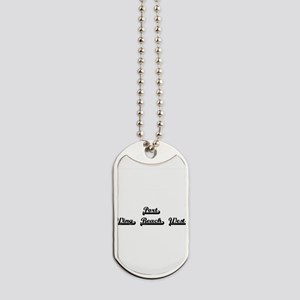 Port Wing Beach West Classic Retro Design Dog Tags