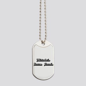 Whitefish Dunes Beach Classic Retro Desig Dog Tags
