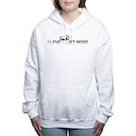 I_Love_Jet_Noise_B&W Women's Hooded Sweatshirt