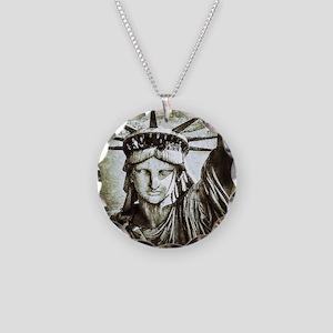 LibertyLady Necklace Circle Charm