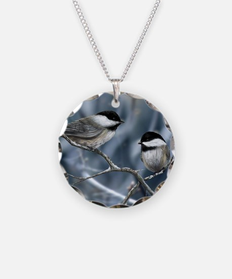 chickadee song bird Necklace