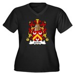 Jamin Family Crest Women's Plus Size V-Neck Dark T